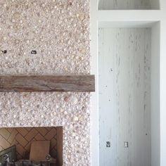 Tabby Concrete Fireplace