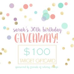 Enter this competition to win a $100 Target Gift Card!