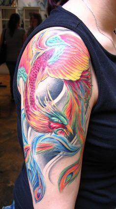 Collel Tattoo Tomo Pentol: Phoenix Japanese Sleeve Tattoos