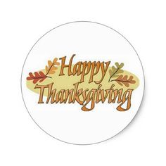 Happy Thanksgiving Fall Leaves Classic Round Sticker - thanksgiving day family holiday decor design idea