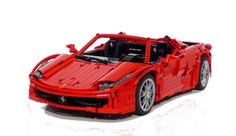Model of the Ferrari 458 with decals