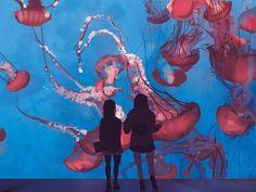 At the Aquarium #art #drawing #painting #aquarium #jellyfish #water #blue #santamonica #girl #girls #anime #comic #pink #sketch #sketching #illustration #instaart #life  #funtimes #urban #la