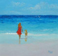 Beach Decor Beach painting fine art beach cottage by JanMatsonArt, $95.00