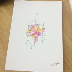 Lotus tattoo idea                                                                                                                                                      More