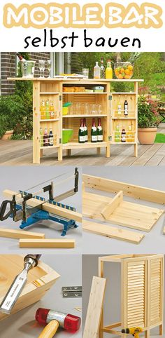 diese mobile bar kann man selbst bauen und nach dem cocktail auf der terrasse kann man sie. Black Bedroom Furniture Sets. Home Design Ideas