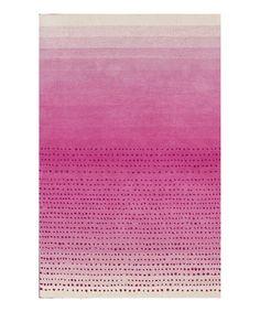 Pink Morderna Ombré Wool Rug