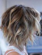Messy, Layered Short Hairstyles for Thin Hair - Balayage Short Haircut