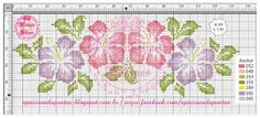 Apaixonada por Ponto Cruz: Flores Hibiscos