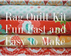 Rag Quilt Kit, Ardently Austin, Kit 1, Super Simple to Make, Personalized, Bin A, Sewing Available