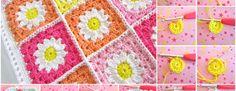 Flower Square Crochet Blanket Patterns (FREE)