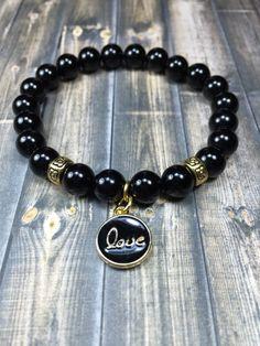 Love Bracelet, bracelets, womens bracelets, gemstone bracelet, beaded bracelet, stretch bracelet, jewelry, gifts for her, womens jewelry