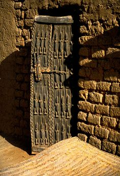 A Dogon door in the village of Teli.  © Robert Burch Communications * All Rights Reserved