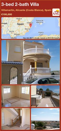 3-bed 2-bath Villa in Villamartin, Alicante (Costa Blanca), Spain ►€195,000 #PropertyForSaleInSpain