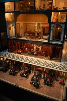 Queen Mary's dollhouse, Windsor Castle. Every book in the library is readable.
