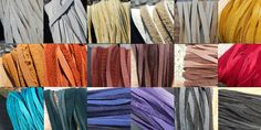 Hand Cut Deer Buckskin Lace - Inch Wide - Choice of Leather Color Colour List, One Color, All The Colors, Artist Supplies, Sari Silk, Leather And Lace, One Pic, Swatch, Deer