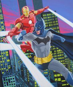 Ironman Vs Batman, in Randy Martinez's Paintings and Illustrations ...