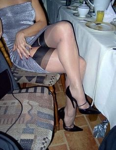 Legs pantyhose unsuspecting the