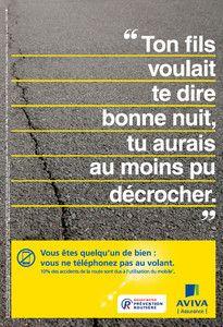 Campagne APR et Aviva - Distracteur - Téléphone au volant