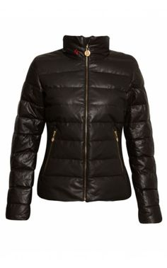 Perfect Moment Leather G-Jacket - Chocolate #aw13 #skiwear #perfectmoment