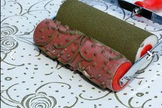 Preparing Your pattern paint roller — Best Chair Painting Laminate Kitchen Cabinets, Patterned Paint Rollers, Inside Design, Painting Patterns, Interior Paint, Contemporary Paintings, Decoration, Sunglasses Case, Roses