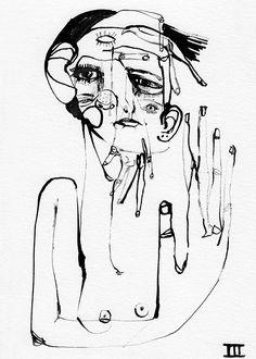 Marina Gonzalez Eme: Black Ink / Drawing series / 2014