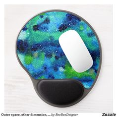 Shop Outer space, other dimension, same stars. gel mouse pad created by BeeBeeDeigner. Lost Stars, Watercolor Galaxy, Green Pattern, Outer Space, Galaxies, Blue Green, Duck Egg Blue, Cosmos, Universe