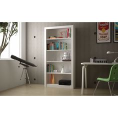 Accentuations by Manhattan Comfort Classic Olinda Bookcase 1.0 with 5-Shelves (