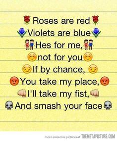 Laughing ... :-) snakk om poesi på høyt nivå :-)