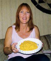 Kathy's Sweet Potato Smash bird food recipe.