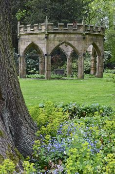 Gardens at Renishaw Hall, Derbyshire, England by Timallen