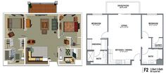 900 square foot house plans | Crestwood Senior Apartment Floor Plans