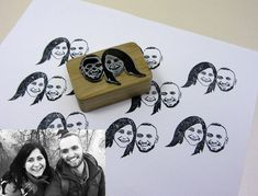 Custom Stamp Rubber Stamp Personalized Stamp Custom Portrait Save the Date Stamp Rubber Stamp Weddin