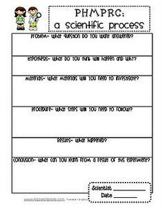 Science- scientific process data sheet