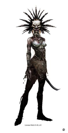 Concept Art - Hansel & Gretel: Witch Hunters Wiki - Lioness Witch