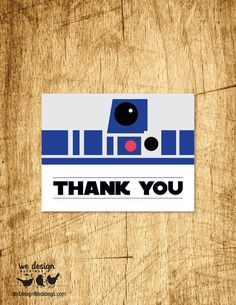 "Star Wars Inspired Thank You Card. Printable DIY 4.25x5.5"", fits standard A2 envelope"