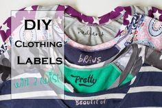 DIY Clothing Labels with a Twist! // DIYMaternity.com