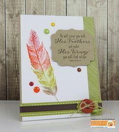 Kendra's Card Company: Gina K & Spectrum Aqua Tutorial