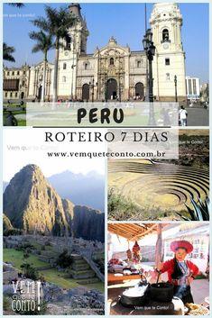 Peru, um país encantador com paisagens maravilhosas. O Vem quee te Conto! tem um roteiro de 7 dias para você visitar o país e a capital do Império Inca. Lima, Cusco e Machu Picchu.
