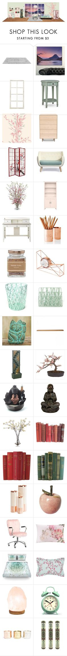 """""""Untitled #504"""" by lessee ❤ liked on Polyvore featuring interior, interiors, interior design, home, home decor, interior decorating, Design Art, Ballard Designs, Improvements and Cole & Son"""