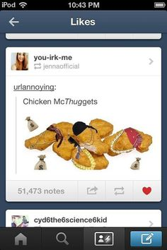 If I was a nugget, I would deffo be a McThugget