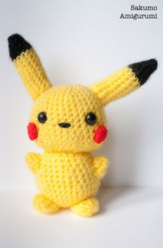 Pikachu Amigurumi - Kawaii Plush - Pokemon di SakumoAmigurumi su Etsy