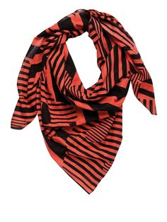 Red Black Line Scarfs   www.premiumtowelexportindia.com