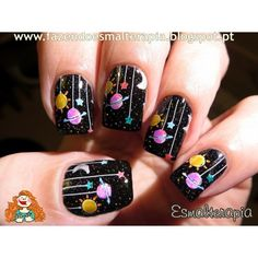 Atoms Create by bundlemonster | astronomy space solar system planet moon star galaxy atom nerd geek nail art stamping