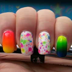 I miss my long nails! #clowningaround #polishmesilly #gradient #nails #nailart #pretty #fun