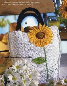 flor ganchillo bolso