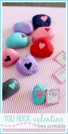 you rock free printable valentine