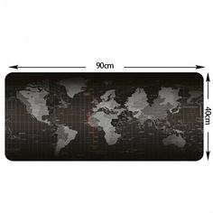 Popular Super Large Size World Map Speed Game Mouse Pad Laptop Gaming Mousepad Practical Office Desk Resting Surface Large Mat