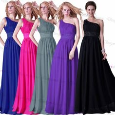 One-shoulder Prom Dress 2016 Evening Dress Party Dress Bridesmaid Dress On Luulla Dress on Luulla