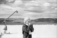 Marilyn Monroe in the Nevada desert during filming of The Misfits, 1960