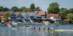 The Henley Royal Regatta starts 28 June and several crews were out on the river practicing.  The regatta is a rowing event held annually on the River Thames since it was established in  1839.  The day was so warm that we both took a dip in the river.